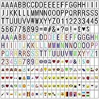 Cinema Sign Tarjetas Incluyendo 270 Cartas Negras, Letras en Color Pastel, Pastel Color Emojis y Símbolos Decorativos Especiales para Senal Luminosa A4 y A3