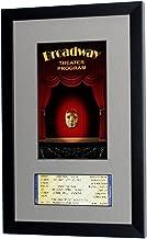 Broadway Playbill Ticket Frame (Program - Ticket, Satin Black- Gray Mat)
