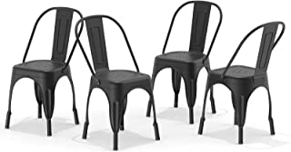 Metal Dining Chair Farmhouse Tolix Style for Kitchen...