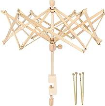Swift Knitting with 2 Pairs of Free Bamboo Knitting Needles Umbrella Swift Yarn Winder Holder PACGOTH Yarn Swift