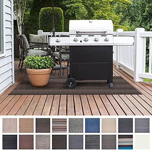 Floordirekt Grillschutzmatte | Schwer entflammbar | 2 Größen | 5 Designs | Grillmatten zum Grillen im Garten | Outdoor Matten für den Grill (90 x 120 cm, Modena)