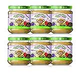 Yammy - Potito Ecológico de Frutas: Manzana+Ciruelas+Avena en Copos Pack 6 Unidades