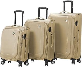 مجموعة حقائب السفر الدوارة الناعمة من ميا تورو إيتاليا، من 3 قطع، لون كاكي