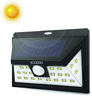 9CGOGO Motion Sensor Lights,Wireless 24LEDs Solar Lights Outdoor with Wide Lighting Area,Easy Install Waterproof Security Lights for Back Yard,Driveway,Garage,Front Door and More