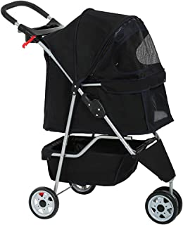 Dog Stroller Pet Stroller Cat Stroller for Medium Small Dogs Foldable Travel 3 Wheels..