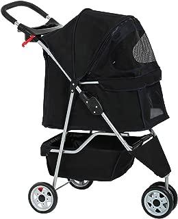 Pet Stroller Cat Dog Cage 3 Wheels Stroller T13