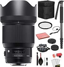 $943 » Sigma 85mm f/1.4 DG HSM Art Lens for Nikon F (321955) with Bundle Package Deal Kit Includes: UV Filter + 70�� Monopod + More