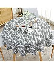 PLYY Tassel Nappe Coton Couverture de Table Anti-poussi/ère Nappe de Table Rectangulaire en Coton et Lin pour Cuisine Table D/écoration Table Carr/ée Table Ronde