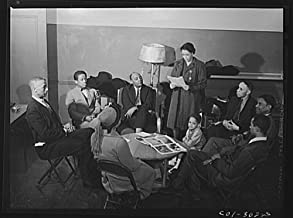 1942 Photo Chicago, Illinois. Ida B. Wells Housing Project. Forum discussion group Location: Chicago, Cook County, Illinois