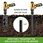 """SETROVIC Garden Spiral Hole Drill Planter 1.6""""x18"""" & 4""""x12"""" Garden Auger Bulb Planter Tool Rapid Planter Garden Drill Planter Hole Digger for 3/8"""" Hex Driver Drill 2-in-1 Set 13 【2-in-1 Set】1.6""""x18"""" & 4""""x12"""" bulb planter suitable for various planting requirements. Thickened and elongated drill enables easier drilling and thickened link rod is more durable and resistant, quickly digs holes up using the power of your hand held drill. 【High Quality Products】 Made of heavy duty steel, with premium glossy painted finish. The auger drill bit point on it hits the ground first and keeps it steady when you are digging hard grounds. The rod is connected with the shaft, it's difficult to break.This auger drill bit is suitable for most 3/8"""" hex drive drill. 【Efficient Planting】Our bedding plants drill bit will make hundreds of holes in few minutes, makes hole digging easier, it will save your time & save your back. The long size drill bit allows you to stand and dig. It can save much effort for you in massive digging."""