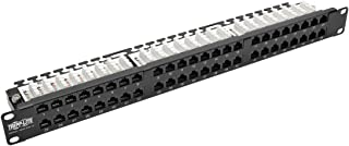 Tripp Lite 48-Port 1U Rack-Mount Cat5 Cat5e Patch Panel, 110, RJ45, Ethernet (N052-048-1U)
