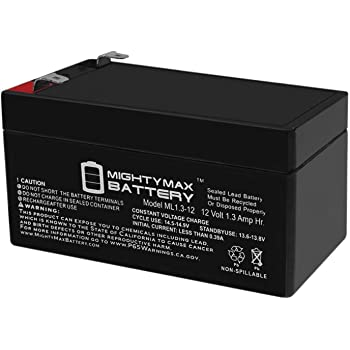 12V 1Amp Charger Brand Product Mighty Max Battery 12V 3AH Replacement for APC Back-UPS ES350