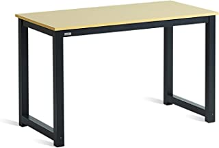 """DECOHOLIC Computer Desk 47"""" PC Laptop Study Table Office Desk Workstation for Home Office,with Leg Bars,Modern Industrial ..."""