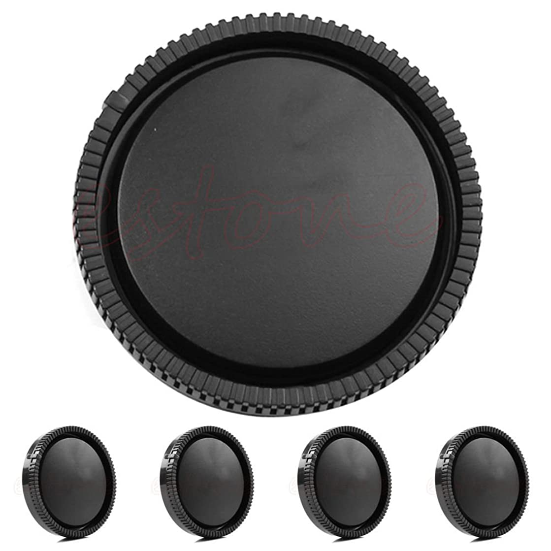 Kococme 5 PCS Rear Lens Cap Cover for Sony E-Mount Lens Cap NEX NEX-5 NEX-3