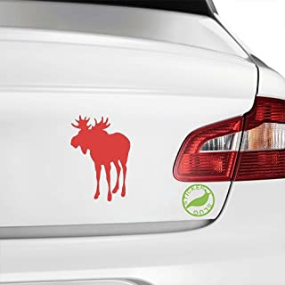 Moose Decal Sticker (red, 5 inch)
