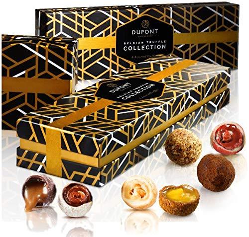 chocolats et truffes belgique - Cadeau Noël ballotin chocolat assortiment Dupont chocolatier.chocolats cadeau Chocolat blanc chocolate noir. pralines, ganache cadeau d'anniversaire chocolat bonbons