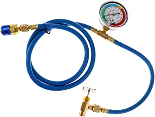 A/C R-134A Refrigerant Recharger Hose Low Pressure Gauge Easy Opener Car Air Conditioning Port Can Tap Valve Bottle Adapter R134A AC Charging Kit
