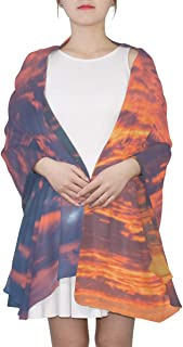 Orange And Yellow Sunsets Unique Fashion Scarf For Women Lightweight Fashion Fall Winter Print Scarves Shawl Wraps Gifts For Early Spring