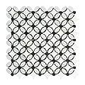 Carrara White Italian (Bianco Carrara) Marble Florida Flower Mosaic Tile