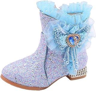 LOBTY princesse bottes enfants chaussures d'hiver fourrure paillettes ruban strass arc cadeaux chaleur doublée bottes de n...