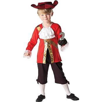 Rubies - Disfraz Capitán Hook de Peter Pan para niños, 116 cm ...
