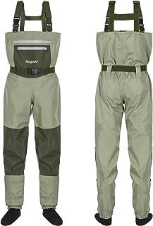 Magreel Vadeadores de Pesca con Calcetines Impermeables para Pescar Caza Waders Transpirables Ropa Pantalones para Pescador Hombre Mujer, Material Seguro Duradero Cómodo