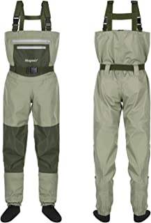 Magreel Chest Waders Breathable Waterproof Fishing & Hunting Waders with Neoprene Stocking Foot for Men and Women