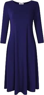 maya 3 4 sleeve midi dress