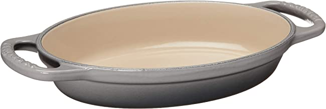 "Le Creuset Enameled Cast Iron Signature Oval Baker, 5/8 qt. (8""), Oyster"