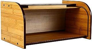 Rehomy Boîte à Pain Organisateur de Comptoir de Cuisine Boîte de Rangement de Pain en Bambou avec Couvercle Amovible