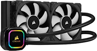 Corsair iCUE H100i PRO XT RGB Liquid CPU Cooler (240mm Radiator, Two 120mm Corsair ML Series PWM Fans, 400 to 2,400 RPM, A...