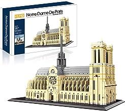KLMEi New 2020 Large Architecture Notre Dame De Paris Micro Blocks 7380 Pieces Model Building Kit, Creative Building Set f...