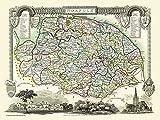 Mapa de Norfolk 1836 Thomas Muller Puzzle de 1000 Piezas Rompecabezas de Madera Juguetes de Ocio