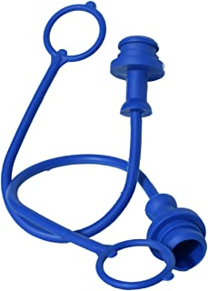 Grunge Armor | 2-Pack | Dust Plug, Fits Female ISO/Pioneer Style Hydraulic Quick connectors Like 4050-4, 6601-8-10, and Others. Blue Molded Cap with Retention Ring Keeps Cap Attached to Hose