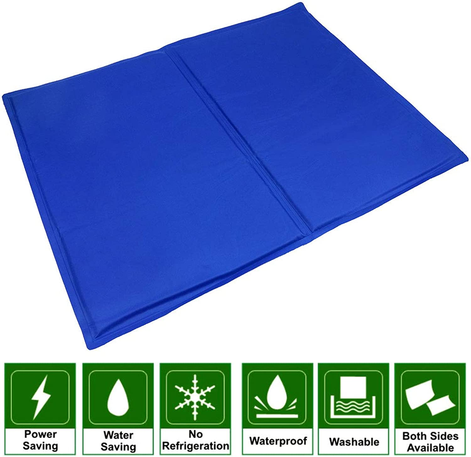 CAPTIANKN Car Ice Pad Dog Cooling Pad Pet Ice Bed Gel Pad Summer Cooling Pad NonToxic bluee