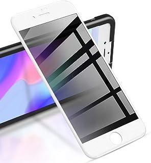 RIWNNI [2 Pezzi] Privacy Vetro Temperato per iPhone 8/7/SE 2020, Anti-Spy Pellicola Protettiva Copertura Completa Protezio...