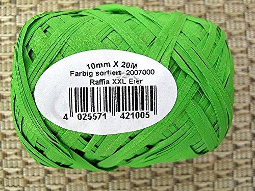Konrad Arnold GmbH & Co.KG NA-und Raffia Bast Geschenkband 20m Knäul XXL 10mm, Color:hellgrün