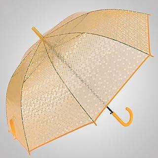Imitation Fish Scales Umbrella Hooks Long-Handled Umbrella Transparent Umbrella Automatically Open The Umbrella Princess Umbrella WXFO (Color : Orange)