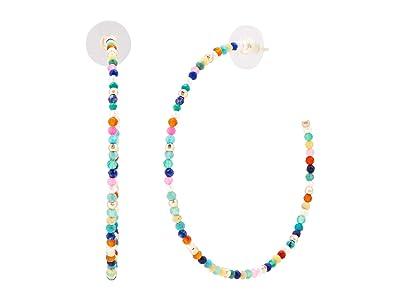 Kendra Scott Scarlet Hoop Earrings (Gold Multi) Earring