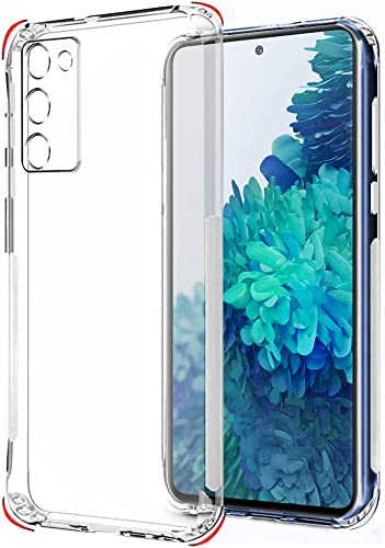 TheGiftKart Best Camera Protection Back Cover Case for Samsung Galaxy S20 FE Transparent Ultra Clear Soft Case Slim Protective Design Inbuilt Dust Plugs Anti Slip Grip Transparent