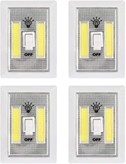 COB LED Night Light, Battery Operated Cordless Light Switch 300 Lumen Closet Light New Hope Store Cabinet Lamp Tap Light for Baby Nursery, Hallways, Bedrooms 4-Pack (Battery not Included)