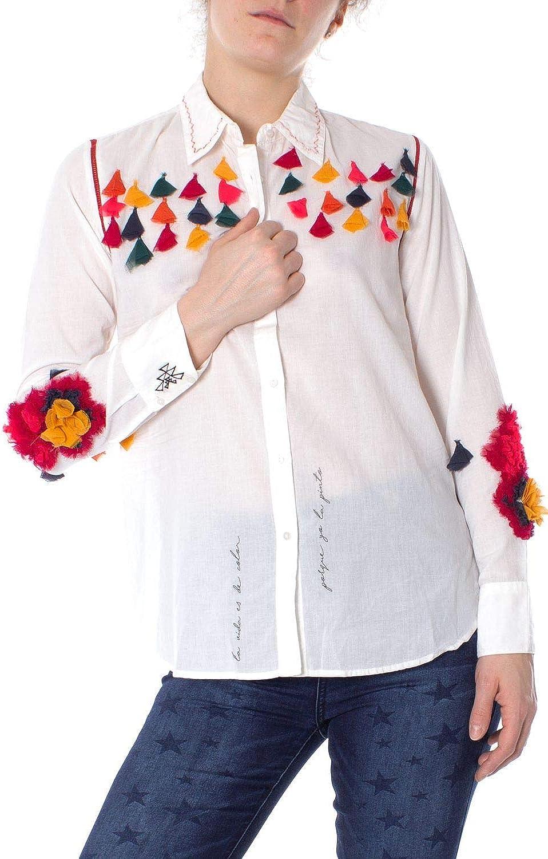 Desigual Women's 19SWCW68WHITE White Cotton Shirt