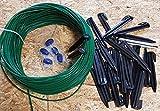 Kabel (2,7mm) 50m + 100 Haken + 5 Verbinder +3 Titan-Messer für Husqvarna Automower / Gardena Mähroboter
