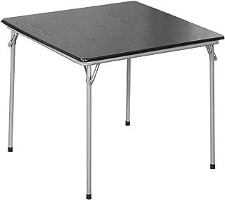 Tables Feifei Pliante à Manger Multifonctionnelle MDF De Cadre en Métal pour Cuisine Salon Extérieur, 80x80x70cm(Color:Noir)