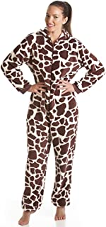 Camille Supersoft Brown and Cream All in One Giraffe Onesie