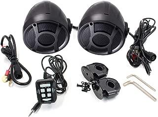 280097DB, all in one amplifier built-in black/chrome motorcycle speaker