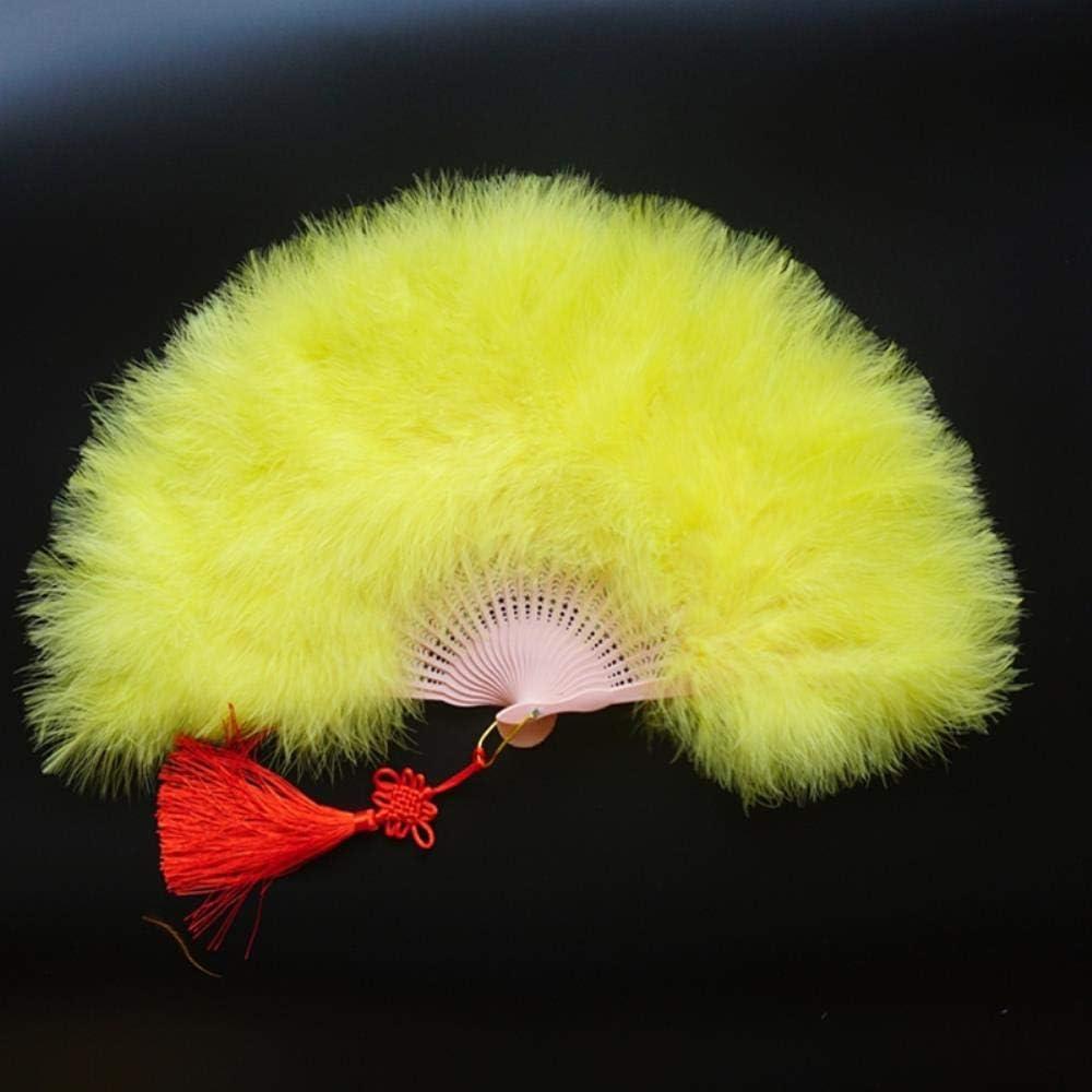 Cula Éventail en plumes fait main pour danse du ventre, décoration de mariage Blanc 7