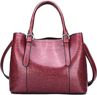 Trendy Lady Large-capacity Handbag Fashion Shoulder Bag Casual Retro Shoulder Bag Zgywmz (Color : Red, Size : 30 * 23 * 13.5cm)