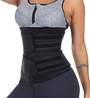 مشد خصر مصنوع من النيوبرين لشد الجسم وتنحيف الخصر للنساء ملابس داخلية مشد حزام للنمذجة (اللون: أسود، المقاس: 6XL)