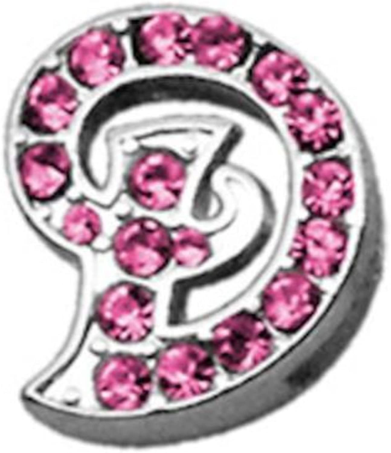 Mirage Pet Products Pink Script Sliding Collar Charms, 3 8Inch, Letter D